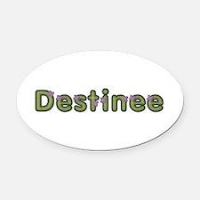 Destinee Spring Green Oval Car Magnet