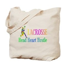 Lacrosse Head Heart Hustle Tote Bag