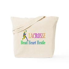 Lacrosse Head Heart Hustle Tote Bag