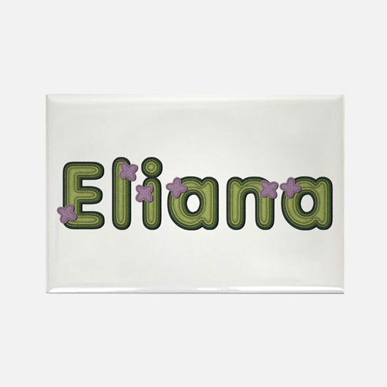 Eliana Spring Green Rectangle Magnet