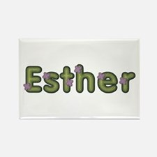 Esther Spring Green Rectangle Magnet