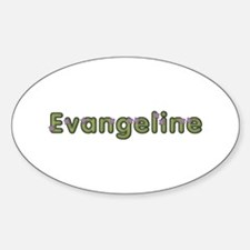 Evangeline Spring Green Oval Decal
