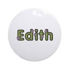 Edith Spring Green Round Ornament