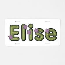 Elise Spring Green Aluminum License Plate