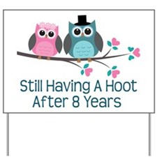 8th Anniversary Owls Yard Sign