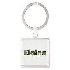 Elaina Spring Green Square Keychain