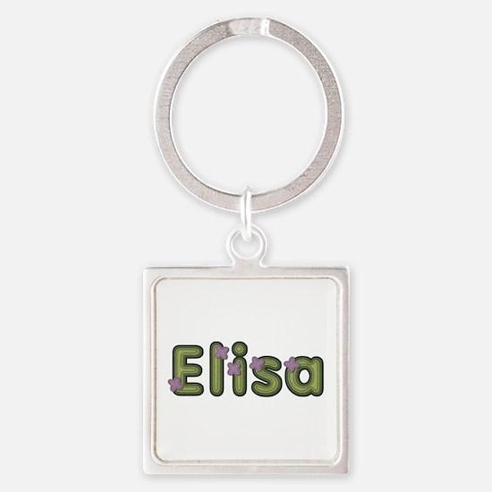 Elisa Spring Green Square Keychain