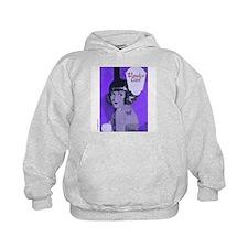 Flapper Girl Purple Art Deco Vintage Hoodie