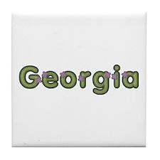 Georgia Spring Green Tile Coaster