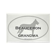 Beauceron GRANDMA Rectangle Magnet