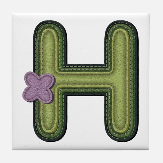 H Spring Green Tile Coaster