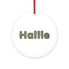 Hallie Spring Green Round Ornament