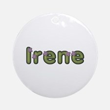 Irene Spring Green Round Ornament