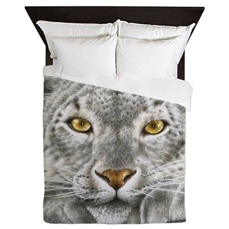 Snow Leopard Queen Duvet
