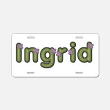 Ingrid Spring Green Aluminum License Plate