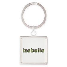 Izabella Spring Green Square Keychain
