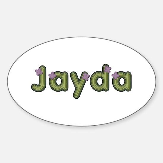 Jayda Spring Green Oval Decal