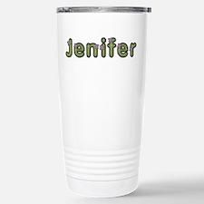 Jenifer Spring Green Stainless Steel Travel Mug