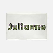 Julianne Spring Green Rectangle Magnet