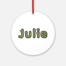Julie Spring Green Round Ornament