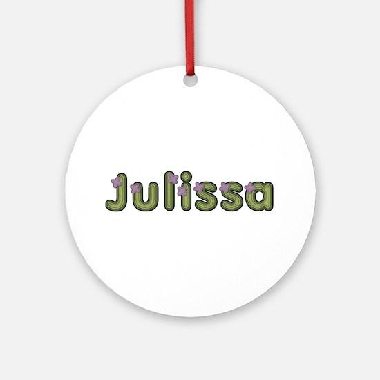 Julissa Spring Green Round Ornament