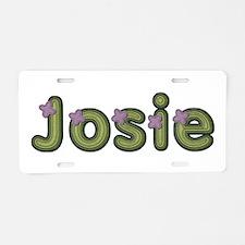 Josie Spring Green Aluminum License Plate