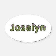 Joselyn Spring Green Oval Car Magnet