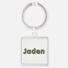 Jaden Spring Green Square Keychain