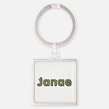 Janae Spring Green Square Keychain