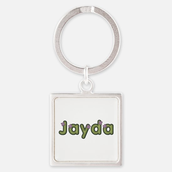 Jayda Spring Green Square Keychain