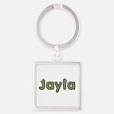 Jayla Spring Green Square Keychain