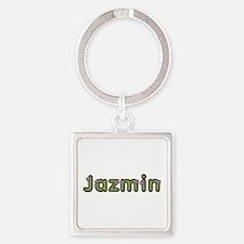 Jazmin Spring Green Square Keychain