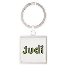 Judi Spring Green Square Keychain