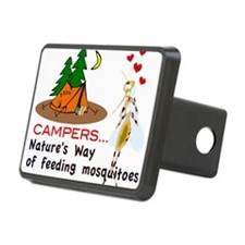 Camping: Campers and Mosquitoes Hitch Cover