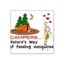 Camping: Campers and Mosquitoes Sticker