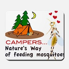 Camping: Campers and Mosquitoes Mousepad