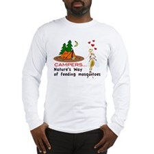 Camping: Campers and Mosquitoes Long Sleeve T-Shir