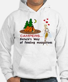 Camping: Campers and Mosquitoes Hoodie