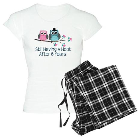 6th Anniversary Owls Women's Light Pajamas