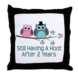 2nd wedding anniversary Throw Pillows
