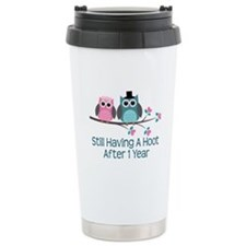 1st Anniversary Owls Travel Mug
