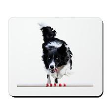Border Collie jump Mousepad