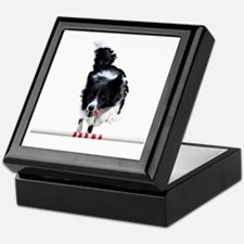 Border Collie jump Keepsake Box