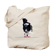 Border Collie jump Tote Bag