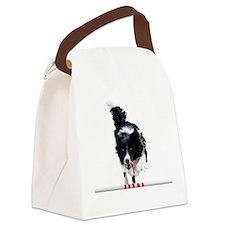 Border Collie jump Canvas Lunch Bag