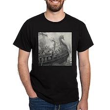 Siegfried Viking Ship Fantasy Myth T-Shirt