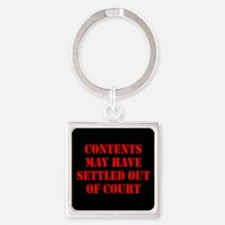 Settled Out of Court Square Keychain