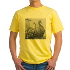 Siegfried Viking Ship Fantasy Myth T-Shirt