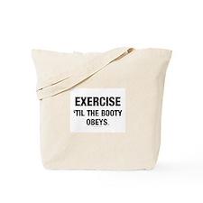 TOP Workout Slogan Tote Bag