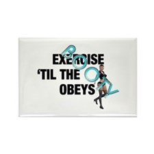 TOP Workout Slogan Rectangle Magnet